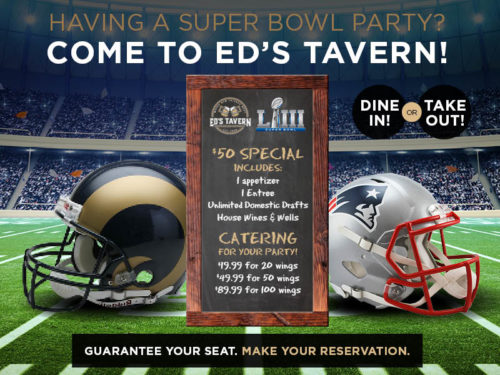 Super Bowl Party at Ed's Tavern in Lakewood Ranch