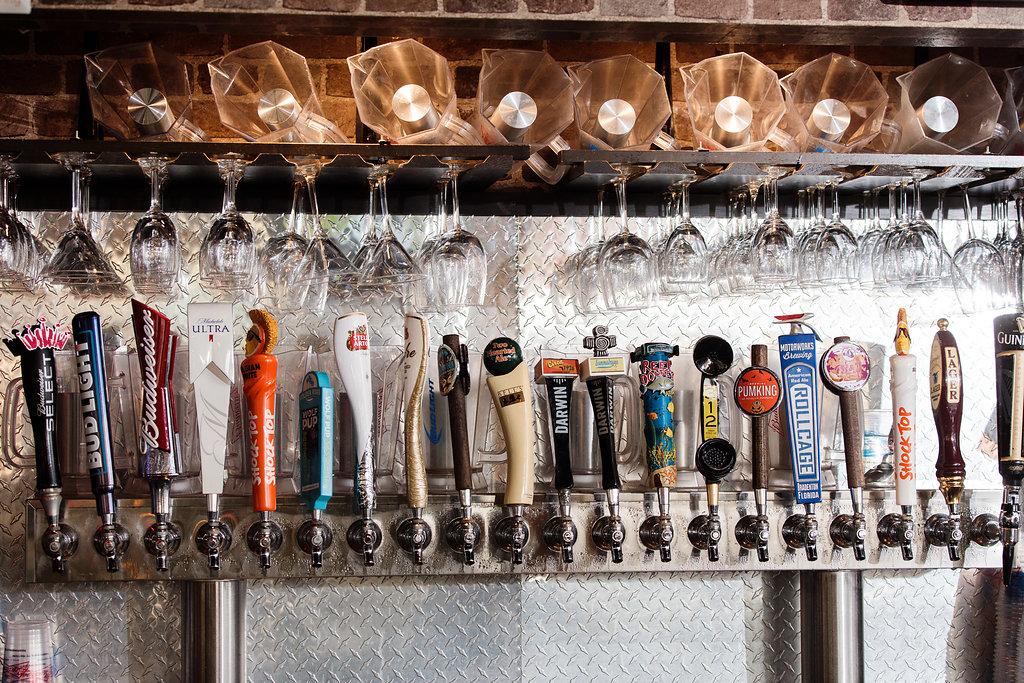 Beer Taps at Ed's Tavern in Lakewood Ranch