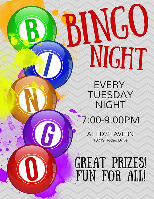 Bingo Tuesday Night Near Me