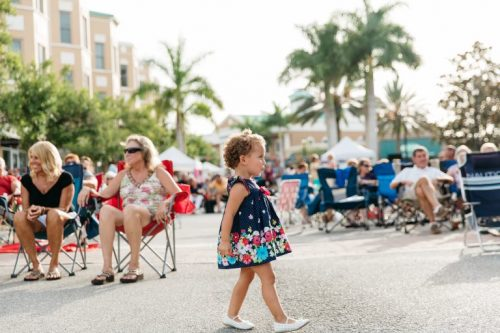 Little Girl on Lakewood Ranch Main Street